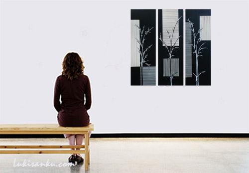 Lukisan Hitam Putih Konsep Ruangan Unik Toko Lukisan Online Jual